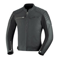 iXS Quentin Leather Motorcycle Jacket With Armor Black Men's