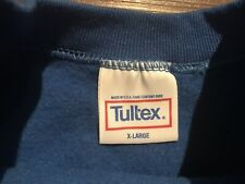 VTG Blue Tultex Crewneck Sweatshirt Blank Size XL USA Made New 90s 80s Raglan