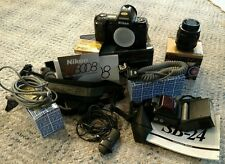Nikon N8008 LOT, Camera Body, Focusing Screen, Lens, Flash, Remote & Sync Cords