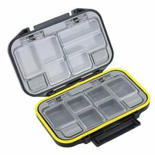 12 Compartments Storage Case Tackle Box Waterproof Black DT