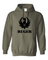 Ruger Black Logo Hoodie Sweatshirt Pro Gun Brand 2nd Amendment Rifle Shotgun New