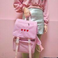 5171047b4e12 Girl Japanese Kawaii Mori Lolita Backpack Embroidery Heart Shape Shoulders  bag
