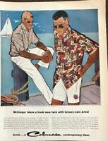 ORIGINAL  1959 Celanese Arnel McGregor Mens Summer Clothing PRINT AD