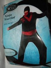 Ninja Mens Plus Size Costume Halloween XXL 50-52 Mortal Combat Black Red 2XL New