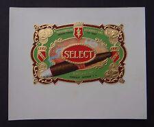 Ancienne étiquette BOITE DE CIGARE SELECT Bruxelles old box cigar label