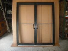 "ALUMINUM STOREFRONT DOUBLE DOOR, FRAME & 2 CLOSERS, 6'0"" x 7'0"", BRONZE FINISH"