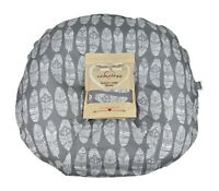 Newborn Infant Lounger Cover Water Resistant Gray White Feather Baby Shower Gift
