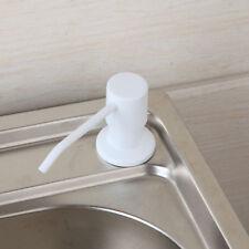 White Stainless Steel For Kitchen Sink Liquid Soap Dispenser Plastic Bottle