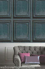 Unusual Wooden Panel Effect, Designer Wallpaper (Paste the Wall, Washable)
