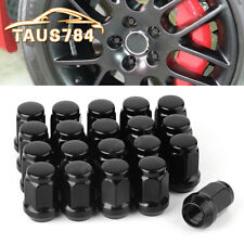 20 Black 12x1.5 Steel Lug Nuts Cone Seat Closed End for Ford Fusion Honda Accord