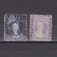 SOUTH AFRICA NATAL 1870, SG# 60-62, CV £74, Used