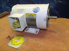 New Leeson C6T34Vk4D Washguard 1 hp electric motor 3450 rpm  00004000 208 230/460 3 phase