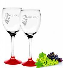 Weingläser 300ml im 2er-Pack Rotweingläser  Rotweinkelche Red Wine Motiv Rot