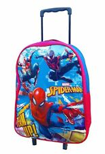 NEW SPIDERMAN DELUXE CABIN TROLLEY CASE WHEELED BAG SUITCASE HAND LUGGAGE