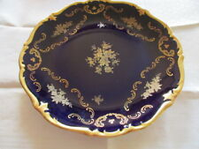 Reichenbach Echt Kobalt Barock Gold Rose Teller Schale Ø 28,5 cm.