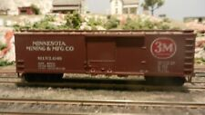 Train Miniature HO Vintage 3M DS Wood Boxcar, Upgraded, Exc.