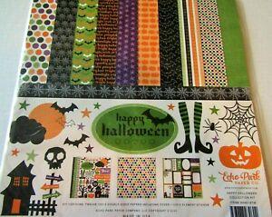 Halloween Happy Trick Treat Witch Bat Boo Echo Park Scrapbook Page Kit 12 x 12