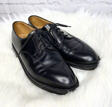 J.M. Weston Black Leather Lace Up Dress Shoes Oxfords Size 7
