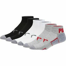 PUMA Men's Quarter Crew Socks (6 Pack)