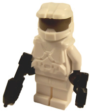 **NEW** LEGO Custom - WHITE HALO SPARTAN - Master Chief Xbox Game Minifigure
