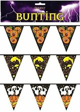 Halloween Ghost and Pumpkin Triangle Flag Bunting