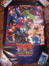 MARVEL VS CAPCOM Original Arcade Poster JAMMA ART Rare XBOX PS2 cps 2 dreamcast