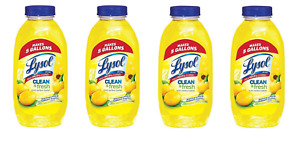4 Pk Lysol Lemon Clean&Fresh Concentrate Multi-Surface Cleaner Makes 20 Gallons
