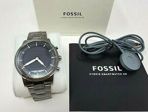 Fossil FTW7009 Hybrid Smartwatch HR Collider Smoke Stainless Steel PRIORITY SHIP