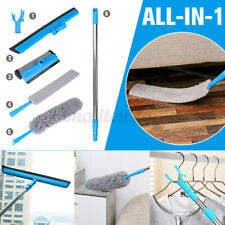 All In 1 Bedside Dust Brush Long Handle Mop Sweep Household Clean Gap Bottom Set