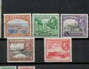 A very nice unused George V group of Cyprus issues