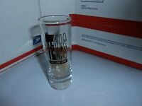 TEXAS THE LONE STAR STATE TALL SOUVENIR SHOT GLASS BLACK/GOLD/CLEAR