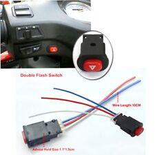 Motorcycle Hazard Light Switch Button Double Flash Warning Emergency Flasher