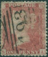 Great Britain 1855 SG29 1d red-brown QV **SA FU