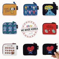 BT21 Character Card Pouch Mini Purse Zipper Pocket Case Authentic K-Pop Goods