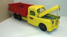 "Structo RARE 1950s Flat Spring Dump Truck Pressed Steel USA 20"" Long"