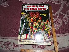 Bring on the Bad Guys Marvel Fireside Hardcover HC HB Dust Jacket Rare Stan Lee