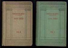 DE SANCTIS FRANCESCO SAGGI CRITICI 3 VOLL. SONZOGNO 1941 BIBLIOTECA CLASSICA ECO