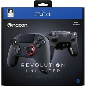 Nacon Revolution Unlimited Pro PlayStation PS4 Wireless Black Controller *New*