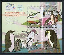 St Vincent & Grenadines 2009 MNH Penguins Environmental Protection 4v M/S Stamps