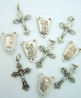 Rosary Repair Our Lady of Lourdes Centerpiece Cross Crucifix Kit, Lot of 10