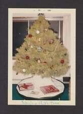 1966 JHON'S & PAT'S XMAS TREE OLD/VINTAGE PHOTO SNAPSHOT- D256
