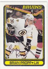 Autograph Brian Propp Boston Bruins In Person Auto 1990/91 Topps