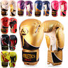 Boxing Gloves Punch Bag Rex Leather Pro Kick Fight Gym Punching Training Mitts