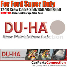 DU-HA 20211 Underseat Storage for 17-19 Ford Super Duty All Crew Cab Light Gray