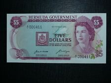 Bermuda 5 dollars P.24 1970 UNC RARE low serial number A/1 000411