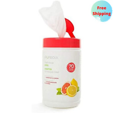 100% Cotton CPAP Wet Wipes Grapefruit Lemon Scent Made With Natural Ingredients