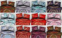 Indian Mandala Pillow Cover Cotton Cushion Case Hippie Pouf Sham Gypsy Bed Decor