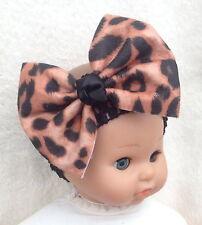 Leopard Animal Print Hair Bow Headband Baby Girl Child