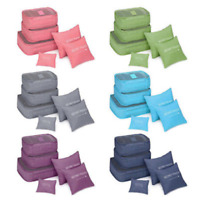 6PCS Travel Clothes Storage Bags Luggage Organizer Pouch Pack Cube Waterproof CN