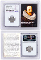 1578-1637 Medieval Austria Silver 3KR Ferdinand NGC Extra Fine W/ Story Vault